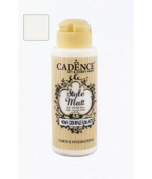 Matowa farba akrylowa Cadence Style Matt 120 ml, kwiatowy biały