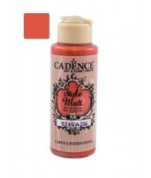 Matowa farba akrylowa Cadence Style Matt 120 ml, koralowy