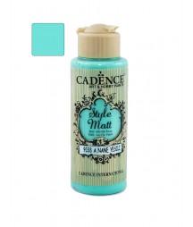 Matowa farba akrylowa Cadence Style Matt 120 ml, jasny miętowy