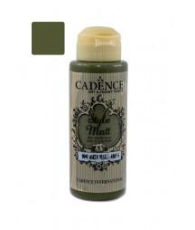Matowa farba akrylowa Cadence Style Matt 120 ml, wojskowa zieleń