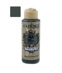 Matowa farba akrylowa Cadence Style Matt 120 ml, ciemna orzechowa zieleń