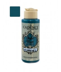 Matowa farba akrylowa Cadence Style Matt 120 ml, ciemny morski