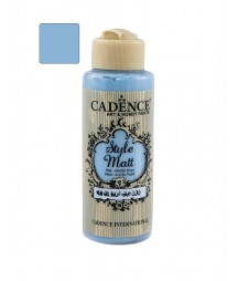 Matowa farba akrylowa Cadence Style Matt 120 ml, szara chmura