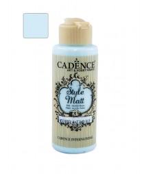 Matowa farba akrylowa Cadence Style Matt 120 ml, dziecięcy błękit