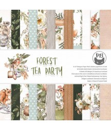 Bloczek papierów do scrapbookingu 6x6, Forest tea party P13