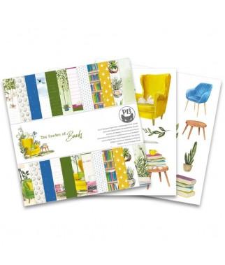 Zestaw papierów do scrapbookingu The Garden of Books - P13 Piątek Trzynastego