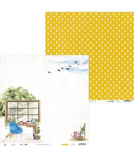 Papier do scrapbookingu P13, The Garden of Books 01
