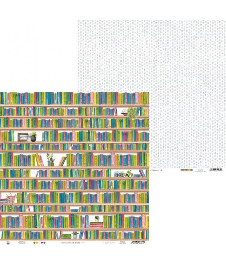 Papier do scrapbookingu P13, The Garden of Books 04