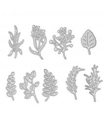 Wykrojniki do scrapbookingu DP Craft, Kwiaty i gałązki 9 szt. JCMA-142