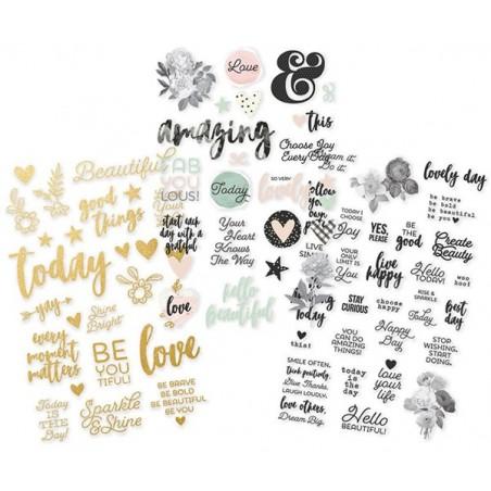Zestaw naklejek, Beautiful Clear Stickers (80 naklejek)