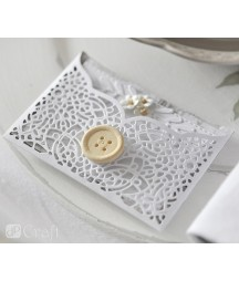 Kwiatki papierowe - miniaturowe białe stokrotki 60 szt. DP Craft CEKP-053
