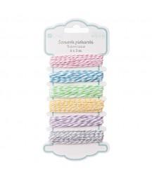 Dekoracyjny sznurek piekarski, kolory pastelowe