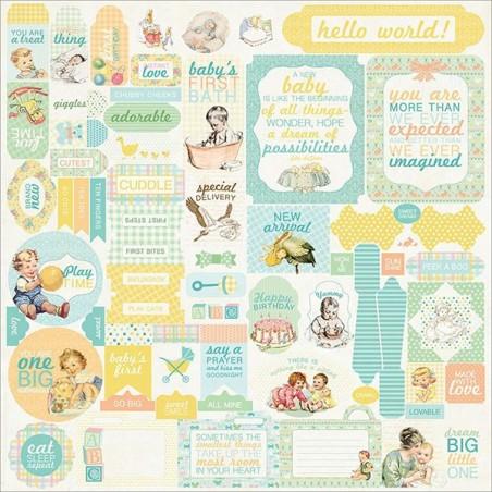 Arkusz naklejek, Beginnings Cardstock Stickers, Details [Auth. Paper]