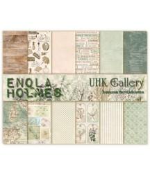 Zestaw papierów do scrapbookingu UHK Gallery, Enola Holmes 30,5x30,5