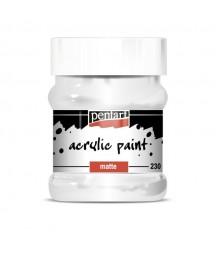 Farba akrylowa 230 ml - biała tytanowa - doskonała do decoupage