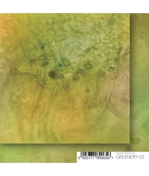 Greenery 02 - papier do scrapbookingu 15x15 Paper Heaven