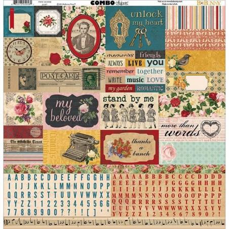 Arkusz naklejek 12x12 Bo Bunny Combo Stickers, Juliet