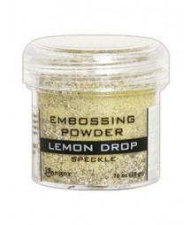 Puder do embossingu Ranger, Lemon Drop - speckle