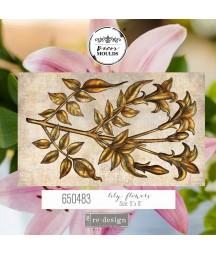 Forma silikonowa do mas strukturalnych Prima 650483, Lily Flowers - lilie