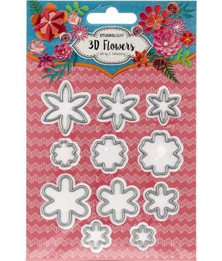 Wykrojniki Studio Light 3D Flowers STENCILSL95 Kwiaty