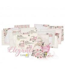 Zestaw papierów do scrapbookingu 30x30 cm, Elegance - Lemoncraft