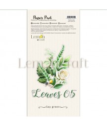 Bloczek papierów do scrapbookingu 15x30 cm, Leaves 5, Lemoncraft