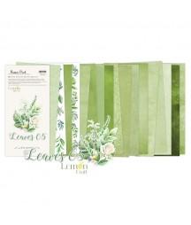 Bloczek papierów do scrapbookingu 15x30 cm, Leaves 05 - Lemoncraft