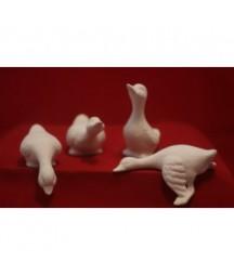 Gąski - zestaw figurek z biskwitu
