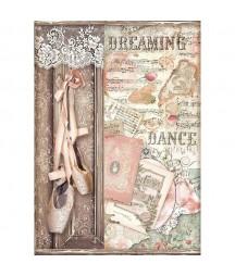 Papier ryżowy Stamperia A4 - Passion - baletki DFSA4537