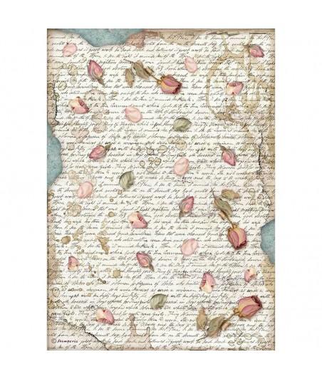 Papier ryżowy Stamperia A4 - Passion - pączki róż DFSA4540