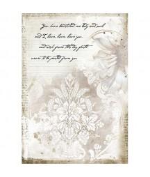 Papier ryżowy Stamperia A4 - Journal - list miłosny DFSA4554