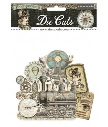 Elementy tekturowe Voyages Fantasiques DFLDC32 / die cuts