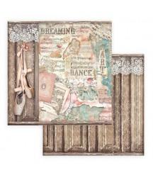 Papier do scrapbookingu 12x12, Stamperia - Passion - baletki SBB769