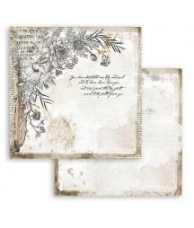 Papier do scrapbookingu 12x12, Stamperia - Journal - stylizowane kwiaty SBB781