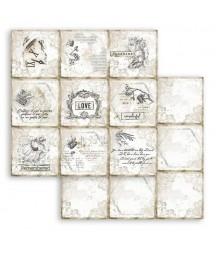 Papier do scrapbookingu 12x12, Stamperia - Journal - karty 10x10 SBB784