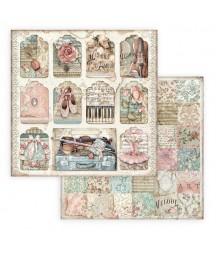 Bloczek papierów do scrapbookingu 30x30 cm, Passion - Stamperia SBBL84