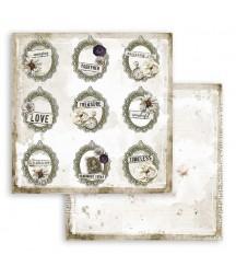 Bloczek papierów do scrapbookingu 30x30 cm, Journal - Romantic Collection - Stamperia SBBL86