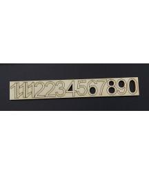 Cyfry do zegara arabskie