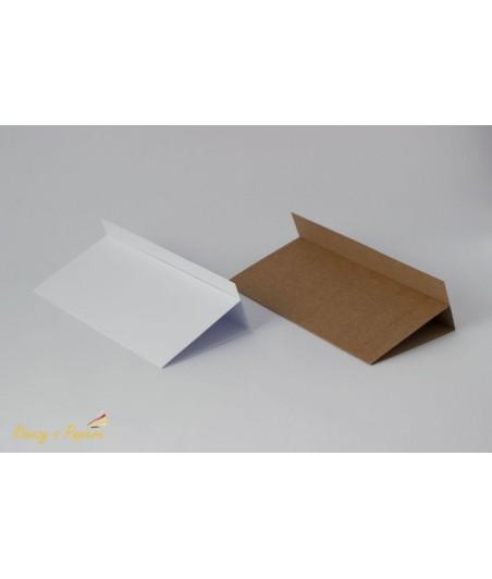 Baza do kartki DL 10x21 cm z listewką, biała RzP
