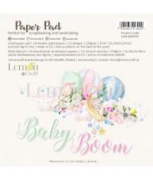 Zestaw papierów do scrapbookingu 15x15 Baby boom - Lemoncraft