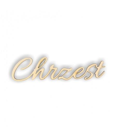 Napis ze sklejki, Chrzest ND144
