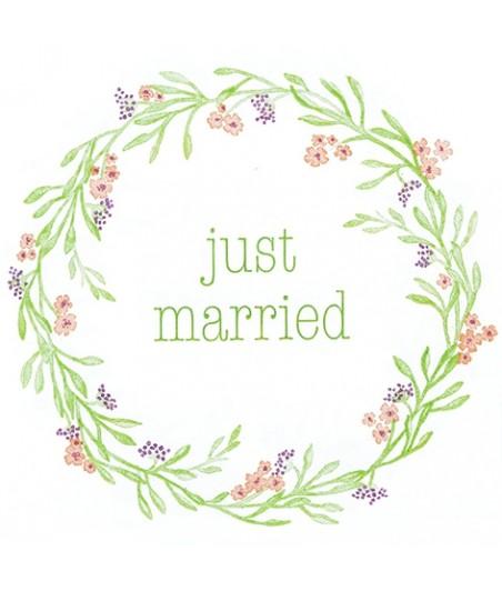 Serwetka do decoupage  - Just married