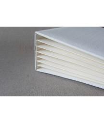Baza albumowa do scrapbookingu 162x212, BAZYL - kremowy z białą okładką, 6 kart / Eco-scrapbooking