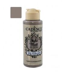 Matowa farba akrylowa Cadence Style Matt 120 ml, norkowy brąz