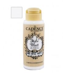 Matowa farba akrylowa Cadence Style Matt 120 ml, biała
