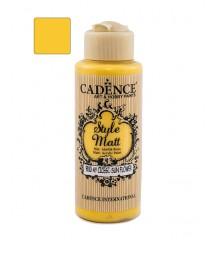 Matowa farba akrylowa Cadence Style Matt 120 ml, żółty słonecznik