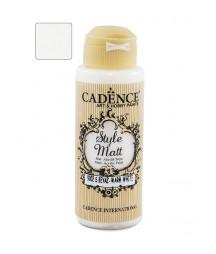 Matowa farba akrylowa Cadence Style Matt 120 ml, ciepły biały