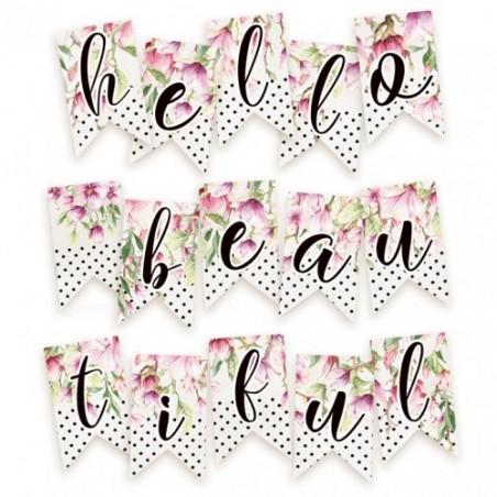 Papierowy banerek / die cut Hello Beautiful [P13]