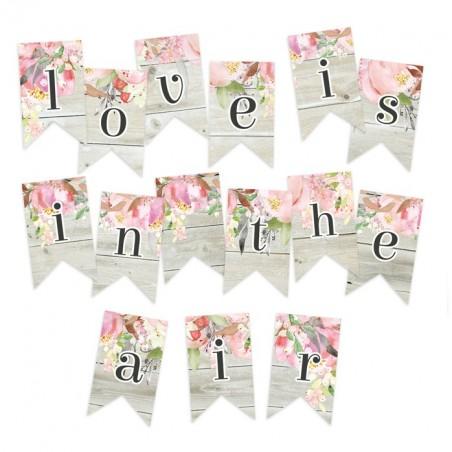 Papierowy banerek / die cut Love in bloom [P13]