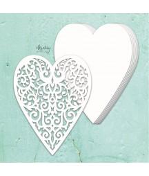 Tekturowa baza albumowa Mintay Chippies, Ażurowe serce